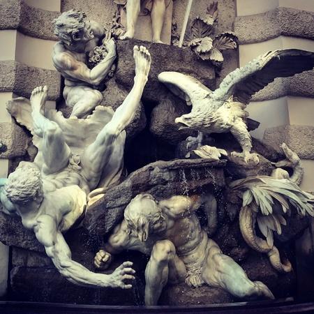 Land power fountain Vienna hofburg