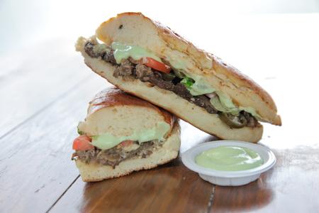 Sándwich de ternera con wasabi al estilo japonés