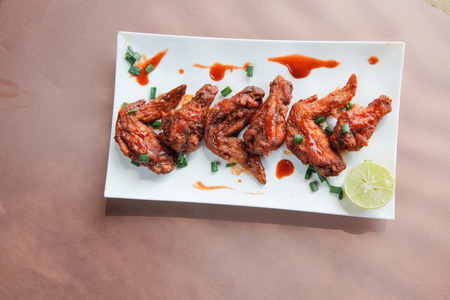 Chipotle Flavoured Chicken Wings Top View Imagens