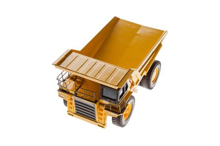 Heavy Load Dump Truck Top View Front