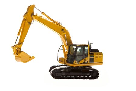 Excavator construction machinery front angle