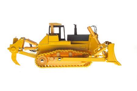 Heavy Bulldozer machinery side profile view