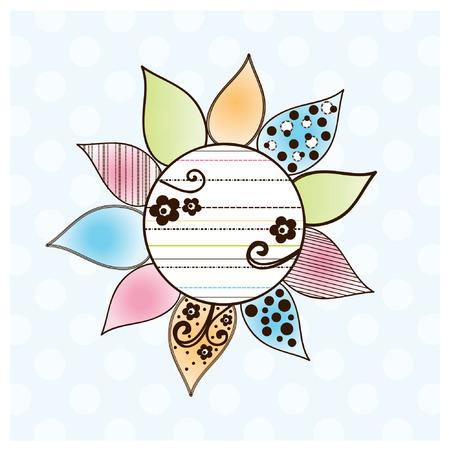 Doodle Flower Text Box
