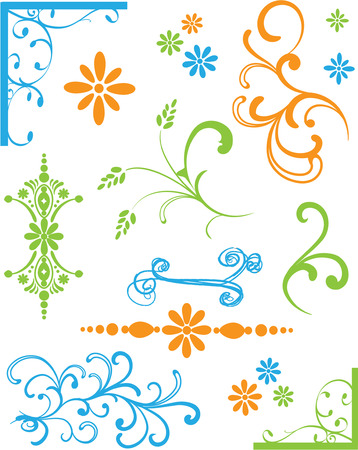 Set Farbige Ornamente Standard-Bild - 4712779
