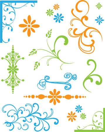 Set van gekleurde decoraties