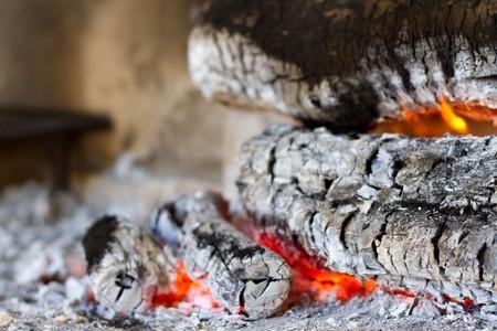Wooden camp fire  Reklamní fotografie