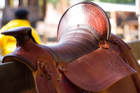 montage de cheval sellier brun