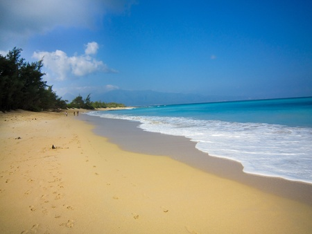 Une belle plage lieu � hawaii Banque d'images