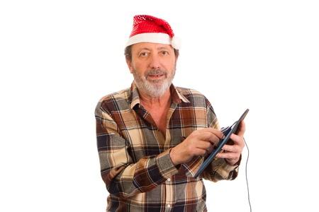 Santa Claus, using the mouse Reklamní fotografie