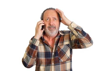 Homme parlant au t�l�phone