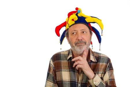 Vieillard clown Banque d'images