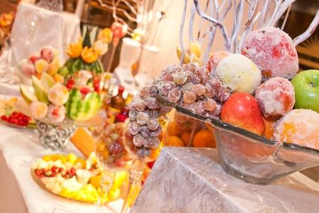 close up of fresh various fruits Stock Photo