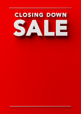 Closing Down Sale Poster Background