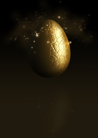 3D Illustration of a Chocolate Easter Egg on a dark background. Perfect for those easter posters or invites.