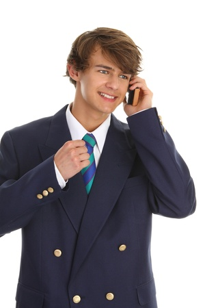 A businessman on the phone sealing a deal Stock Photo - 10203333