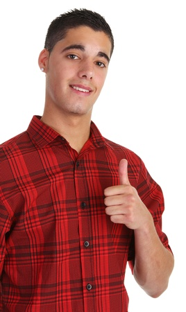 Happy guy with a thumbs up Stock Photo - 10331192