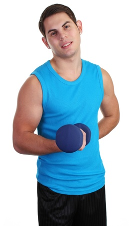 A guy lifting a dumbell Stock Photo - 11135365