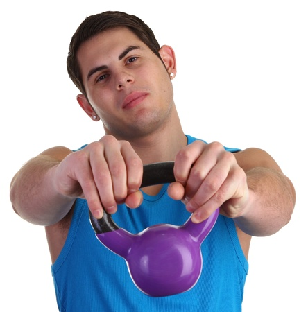 guy with weights Stock Photo - 11135369