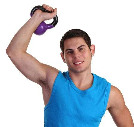 Guy lifting a heavy weight Stock Photo - 11135401