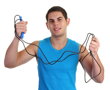 A guy with a skipping rope Stock Photo - 11135408