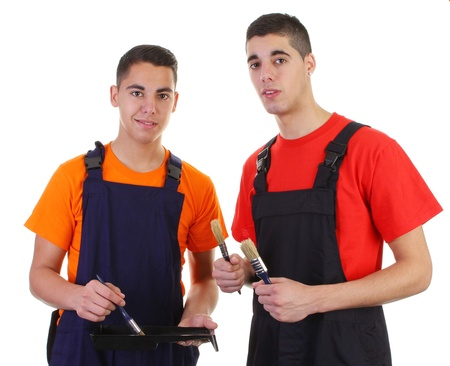 Two painters in their uniform Stock Photo - 11324066