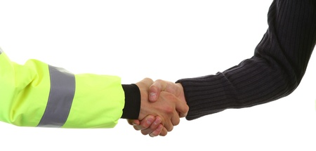 security handshake Stock Photo