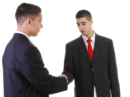 two businessmen meeting with a handshake Stock Photo - 11324109