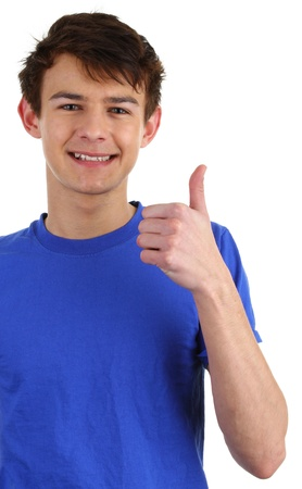 happy teens: A happy guy with a thumbs up sign
