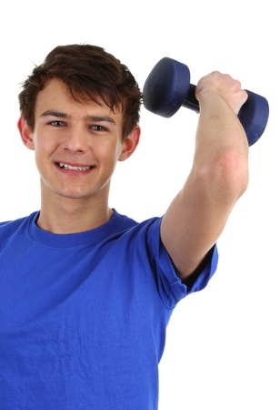 A guy doing a workout with dumbells Stock Photo - 11773338