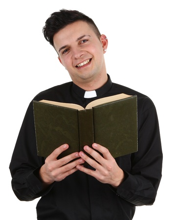 A preist with a book photo