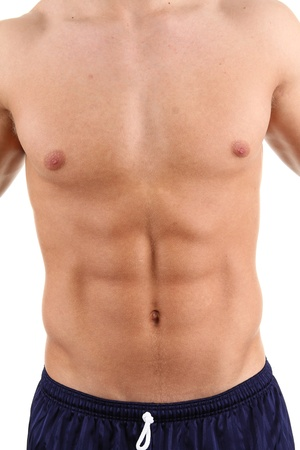 six pack abs: Man with chest and abdomen Stock Photo