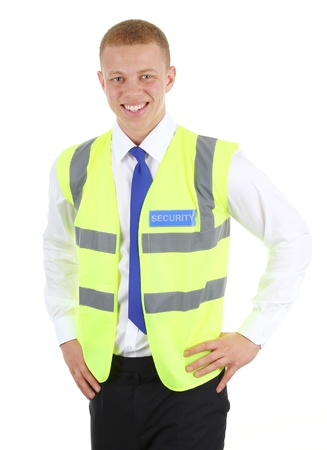 Security guard isolated on white Stock Photo