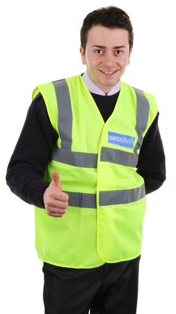 A happy security guard, isolated on white Stock Photo - 13383395
