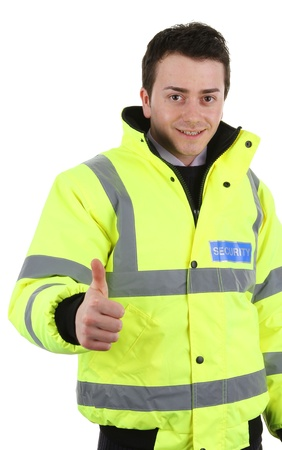 causcasian: Security guard Stock Photo