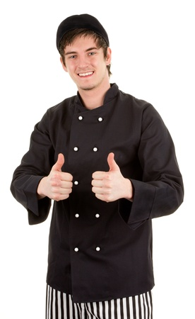 A really happy chef isolated on white Stock Photo - 14463072