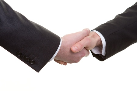 A handshake viewed from above Stock Photo - 14522092
