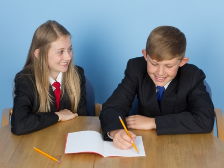 Two children working together Stock Photo - 14932669