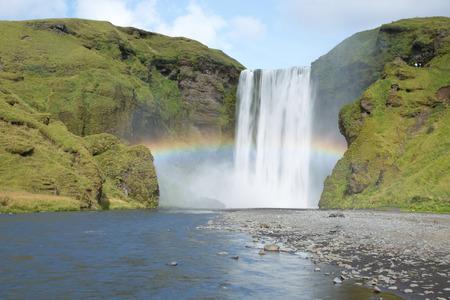 skogafoss waterfall: Skogafoss waterfall Iceland