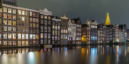 AMSTERDAM CANAL AND OLD WAREHOUSES