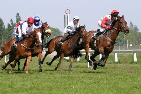 jockey: el competir con del caballo Foto de archivo