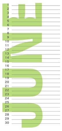date of birth: birthday calendar june