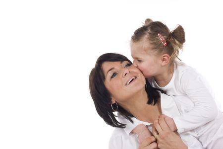 loving mother and daughter having fun