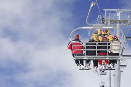 chairlift: chairlift in French Alps