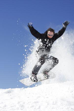 extreme snowboarding photo