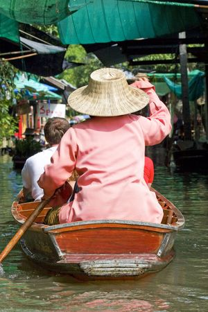 Damnoek Saduak Floating Market, Thailand Stock Photo - 3828798