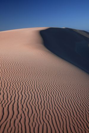 sandhills: Sossusvlei at sunrise, Namib-Naukluft National Park, Namibia Stock Photo