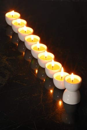 A Hannukah candelabrium, biblical style.