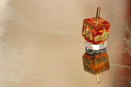 A Hannukah spinning top-Dreidel Stock Photo - 8232156