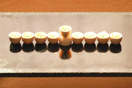 A Hannukah candelabrium, biblical style. Stock Photo - 8232151