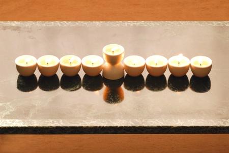 hannukah: A Hannukah candelabrium, biblical style.